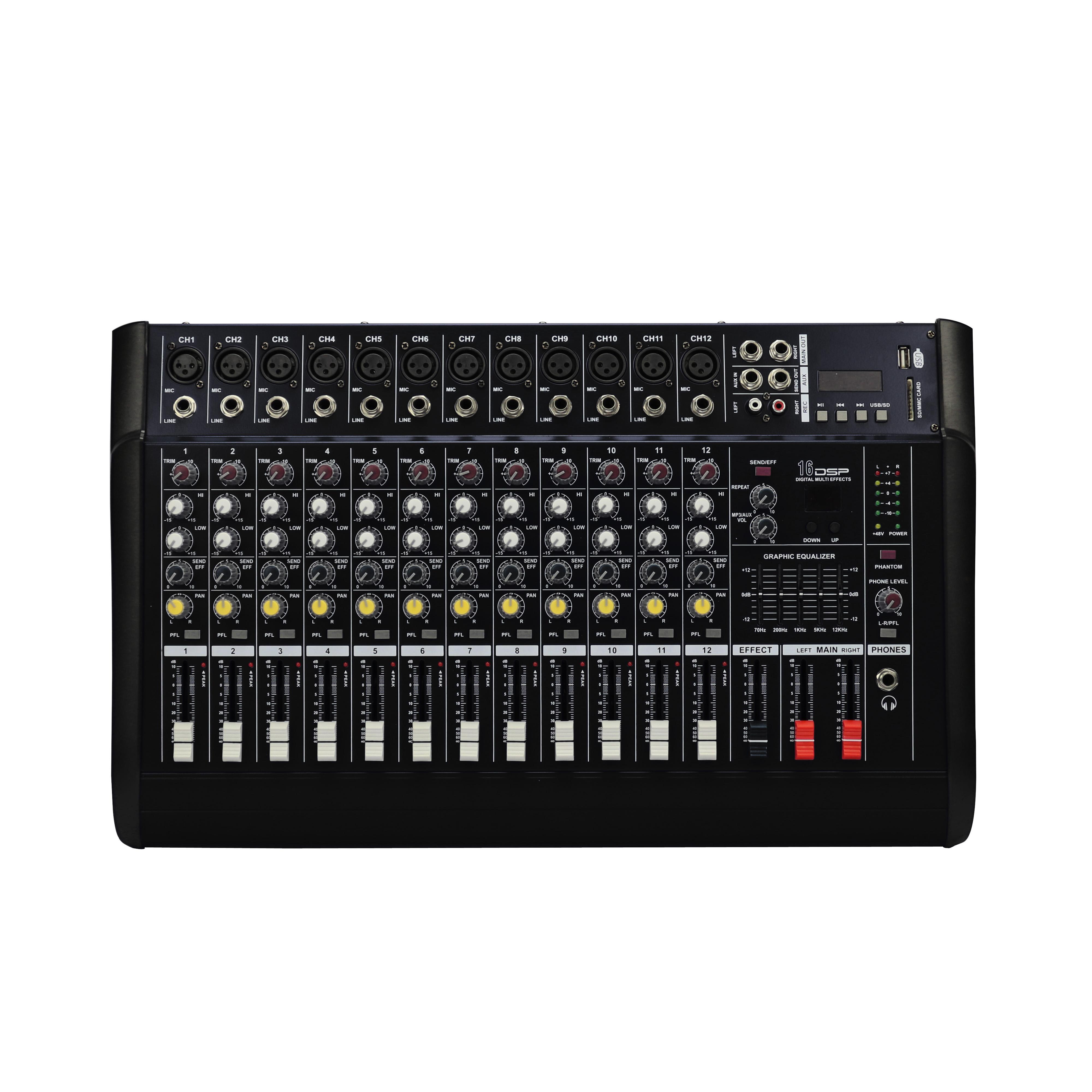 Consolas de sonido potenciadas con reproductor de MP3 vía USB, Bluetooth, efectos y excelente calidad de sonido.