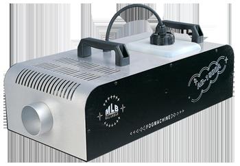 Máquinas de humo de 1.500W alta calidad con DMX, control con regulación de caudal y timmer, y control remoto inalámbrico.