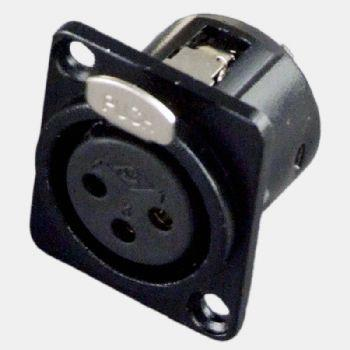 Conector XLR (Canon) Hembra para Chasis.