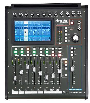 Consola Digital de Sonido Ultra Compacta que combina pantalla táctil, faders motirizados y control remoto a través de Tablets.
