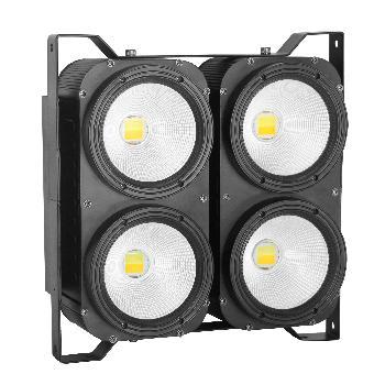 Blinders de alta potencia compuestos por 4 Leds Blancos COB de 100W con control de temperatura color.