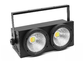 Blinders de alta potencia compuestos por 2 Leds Blancos COB de 100W con control de temperatura color.