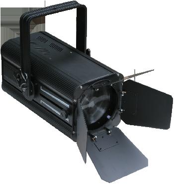 Spots Fresnel de Led de alta potencia con Zoom y Pantalla de regulación del ángulo de iluminación.
