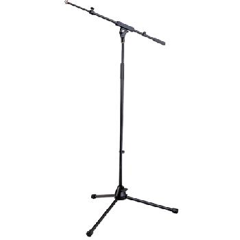 Pies de micrófonos profesionales con jirafa extensible.