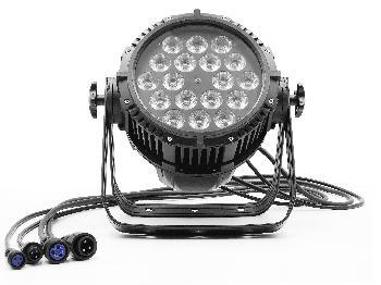 Spots de 18 Leds x 10W RGBWA (5 en 1) de alta potencia para uso en exteriores.
