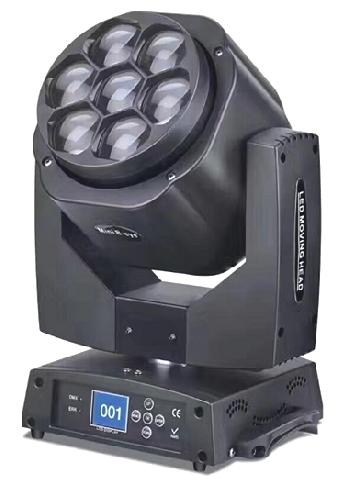 Cabezales Móviles Profesionales de alta potencia con función ZOOM (WASH + BEAM), control independiente de cada led y rotación frontal de las lentes.  Presentación en cajas individuales y en Kits de 2 unidades con Flight Case!!!