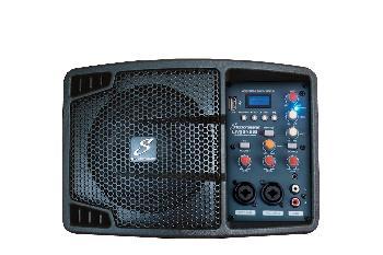 Monitores activos ultra-compactos, con USB / BLUETOOTH, mezclador incorporado y sistema para montar  en pies de micrófono.