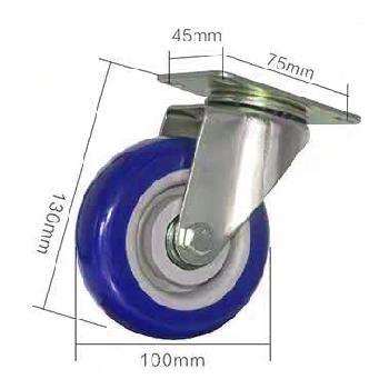 Ruedas de 100mm de diámetro para armado de anviles, racks y torres de elevación.