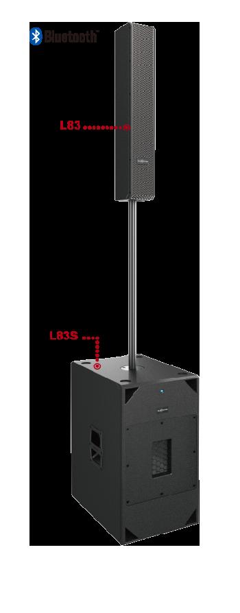 Sistema Columna Activo Profesional con DSP, multi-propósito, compacto y portable de gran rendimiento y excelente calidad de sonido.