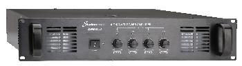Amplificadores de 4 canales con transformador de línea para instalaciones comerciales y música funcional.