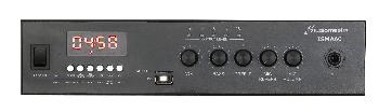 Amplificadores con mezclador incorporado y transformador de línea para instalaciones comerciales y música funcional.