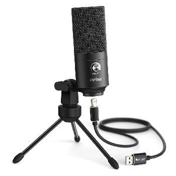 Micrófonos Condensadores USB de excelente calidad con control de volumen para conexión directa con PC, Notebook y PS4.