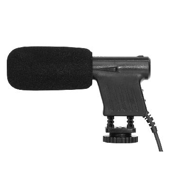 Micrófonos shotgun para conexión cámaras y teléfonos móviles.