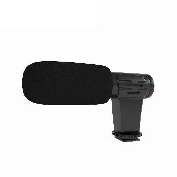 Micrófonos shotgun cortos para conexión directa y accesorios de montaje para diferentes tipos de cámaras, smartphones y tablets.