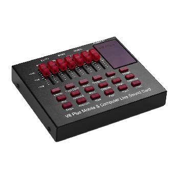 Placas de sonido USB multifuncionales y compactas para transmisiones en vivo on-line con conexión directa con Smartphones y PC.