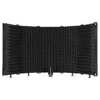 Pantallas portátiles de aislamiento acústico para micrófonos de 5 lados.