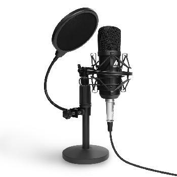 Micrófonos condensadores con diafragma de 16mm y conexión directa con placas de sonido, smartphones, laptops y PCs.