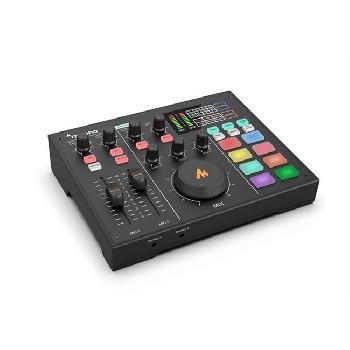 Interfaces de audio integradas profesionales para producciones de estudio, podcast, transmisiones en vivo, grabaciones, etc., con salidas multi-canal para Streaming.