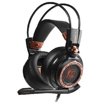 Auriculares Gaming Profesionales con Sistema Activo de cancelación de ruido, sonido digital surround 7.1 virtual, vibración inteligente 4D para una inmersión completa en la sesión de juego.