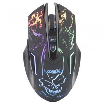 Mouse Gaming luminoso 7D con 7 botones programables, 8000 DPI.