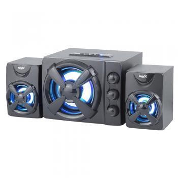 Sistemas de Sonido Gaming 2.1 ultra versátiles con USB + Bluetooth, luces led de 7 colores y diseño compacto y atractivo para lucir en todo tipo de ambientes.