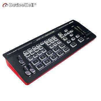 Switcher de video de 5 canales con todas las funcionalidades en una herramienta portable, compacta y de bajo peso.
