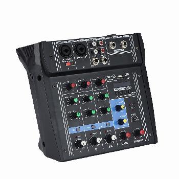 Consolas mezcladoras de sonido multi-propósito potenciadas, ultra versátiles y compactas con interface de sonido USB integrada para conexión directa con PC / Laptop.